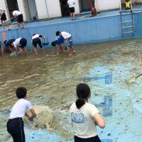 プール清掃 静岡県 小学校